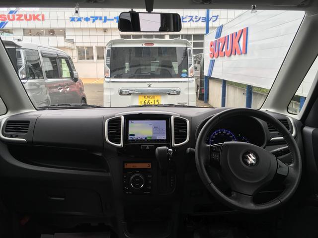 ブラック&ホワイト 4WD 両側パワースライド 社外ナビ(3枚目)