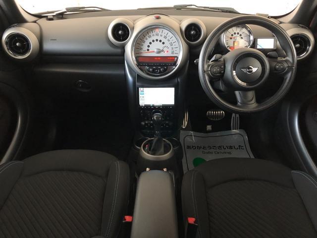 クーパーS クロスオーバー オール4 4WD 社外ナビ 地デジTV バックカメラ ボンネット・ルーフ・リアハッチストライプ 新品ドアミラーカバー ロゴ入りカーテシライト 純正17インチAW クルーズコントロール HIDヘッドライト(23枚目)