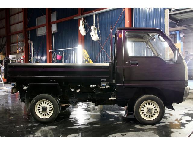 三菱 ミニキャブトラック ダンプ 4WD 本州仕入 丸目 ムラサキオールペン
