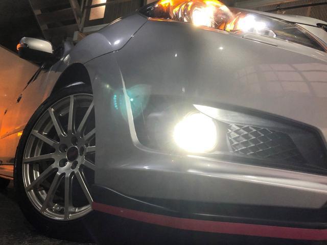 ウィンカーミラー☆フォグランプLED化☆STIフロントアンダースポイラー☆STI18インチAW☆タイヤサイズ225/45-18☆タイヤ・ホイールの変更も可能ですので、お気軽にご相談下さい!