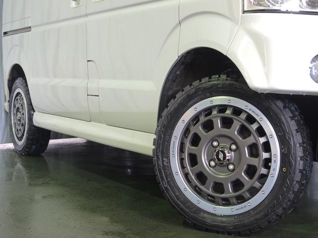 スズキ エブリイワゴン PZターボ 35ミリアップ WORK15インチアルミ