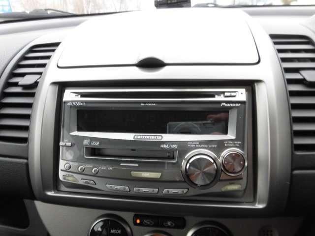 CD/MD付きです。ドライブに音楽は欠かせませんよね!