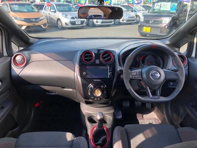 ニスモ S 1オーナー 5速MT RSRダウンサス HKSマフラー WORK17インチアルミ ドラレコ 純正SDナビ バックカメラ Bluetooth ブルーレイ LEDライト スタッドレス車載 スペアキー 禁煙(4枚目)