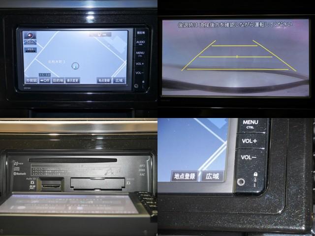 SDナビ/バックモニター/ナビモニターOPENするとCD挿入口有り/外部メディアプレイヤーが接続できるAUX付き