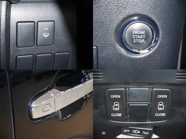 フロントガラス熱線スイッチ/プッシュ式エンジンスタート/スマートタッチでドアの解錠&開閉が可能/両側パワースライドドア