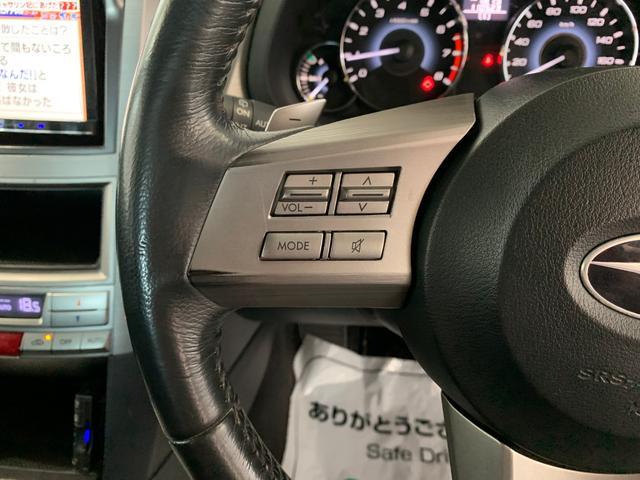 2.5i 4WD 2.5i 夏タイヤ・冬タイヤ付 サビ無キレイ 社外ナビ地デジ ETC 純正HID パドルシフト タイミングベルト交換済 キーレスキー×2 車検新規2年付 ステアリングスイッチ(15枚目)