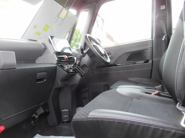 カスタムX 4WD ETC LEDライト エンジンスターター プッシュスタート 純正ナビ・TV ドライブレコーダー 左右パワースライドドア シートヒーター スマートアシスト ハーフレザーシート オートハイビーム(9枚目)