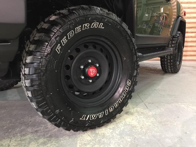 4WD リフトアップ フェデラルA/T5本 各所黒塗装(17枚目)