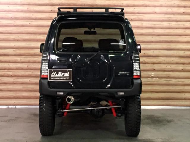 ランドベンチャー 2インチリフトアップ ブラックアウトカスタム ルーフラック BratX02ホイール マキシス新品タイヤ Bratリアウィング パナソニックSDナビ LEDテールランプ シートヒーター FARMマフラー(7枚目)