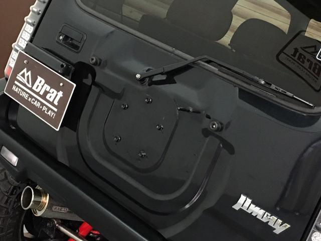 ランドベンチャー 2インチリフトアップ ブラックアウトカスタム ルーフラック BratX02ホイール マキシス新品タイヤ Bratリアウィング パナソニックSDナビ LEDテールランプ シートヒーター FARMマフラー(38枚目)