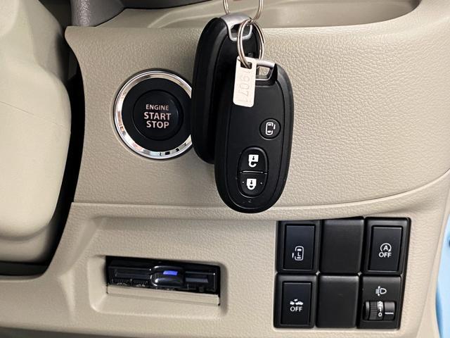 X 4WD スズキセーフティサポート搭載車 禁煙車 SDナビ フルセグTV DVD ETC シートヒーター 左側パワースライド アイドリングストップ スマートキー 横滑り防止 電動格納ミラー 保証書(25枚目)