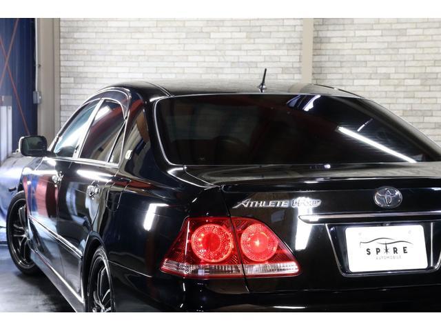 アスリートi-Four4WDx後期x本州仕入x車高調xエアロ 禁煙車 HDDナビ バックカメラ ETC スマートキー タイミングチェーン マフラーカッター ウェルカムランプ パワーシート プラズマクラスター クルーズコントロール ドアバイザー ミラーヒーター(37枚目)