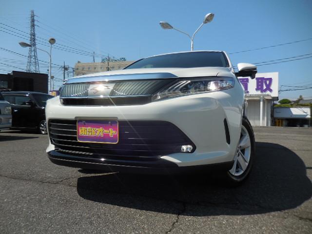トヨタ ハリアー エレガンス 登録済未使用車 サドルタン 同色リアスポ LED