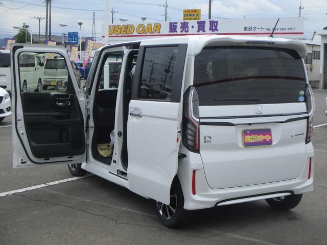 ホンダ N BOXカスタム G・Lホンダセンシング 届出済未使用車 電動スライド ETC
