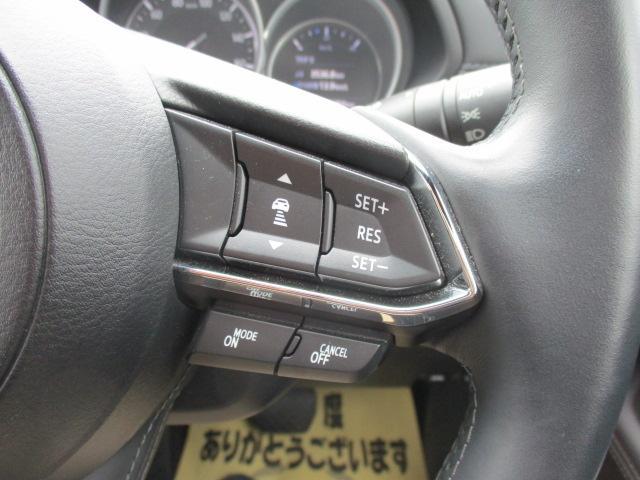 クルーズコントロールです!高速道路などで一切アクセルペダルを踏まずに一定速度(約50〜100キロ)でのクルージングが可能になります!!長距離ドライブの心強い見方ですね♪