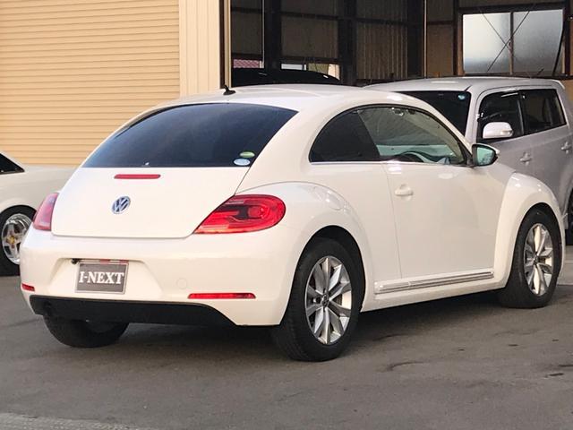 フォルクスワーゲン VW ザ・ビートル デザインレザーパッケージ 純正ナビ バックカメラ 黒革シート
