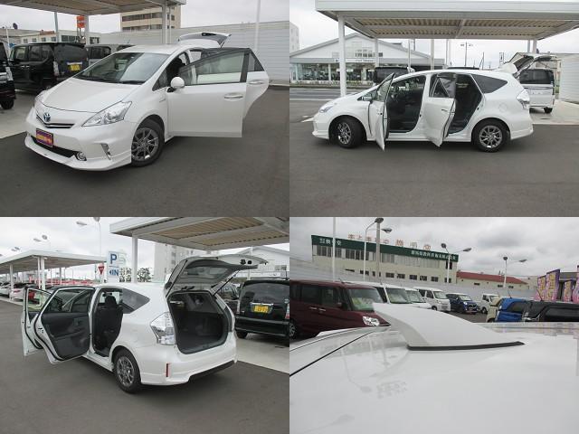 トヨタ プリウスアルファ S チューン ブラック ワンオーナー 純正8インチナビ