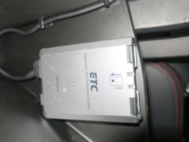 ETC車載機付きだから高速道路もらくらく走れる。ETCカードを忘れずに!※別途セットアップ料金がかかります。