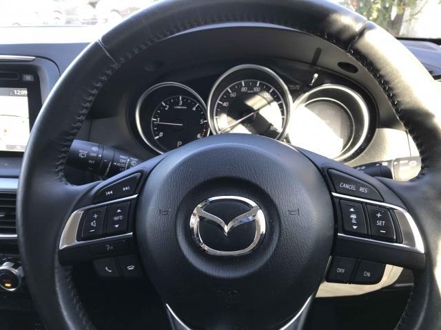 ステアリングにはリモコンにレーダークルーズもついているので長時間のドライブを快適に安全に!