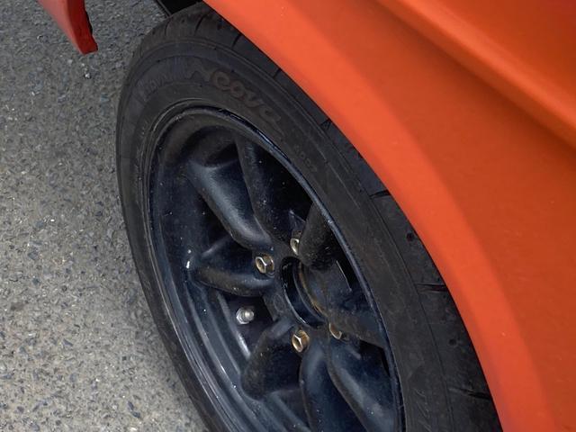 ロングDX 4速マニュアル 後期 ワタナベ13インチアルミ NOX適合 色替車 2人乗り(45枚目)
