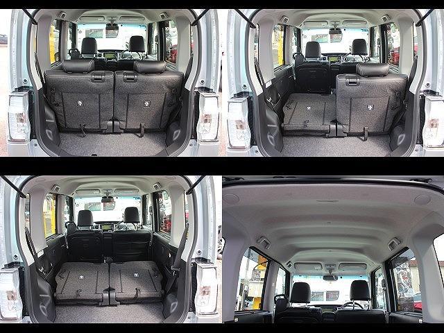 カスタムR スペシャル スマートアシスト 社外SDナビ フルセグTV ETC パノラマビューモニター 4WD 両側パワスラ スマーキー スマアシ ハーフレザーシート ピラーレス ステリモ 純正14インチアルミホイール LEDヘッドライト(27枚目)