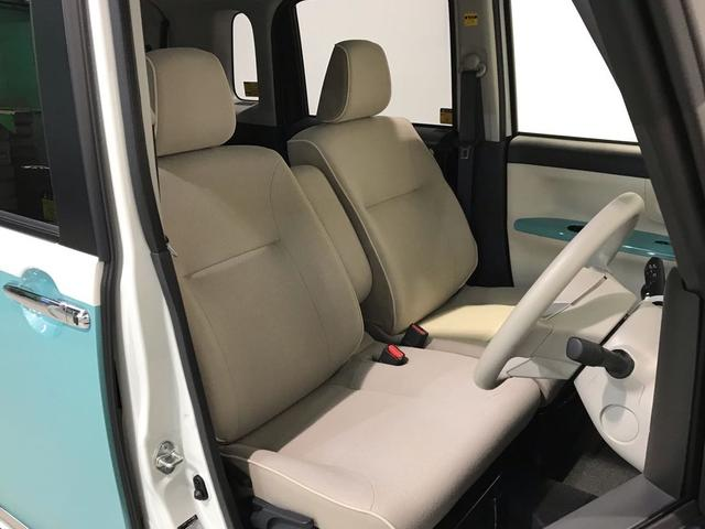 フロントシートには安心のサイドエアバッグが内蔵されています