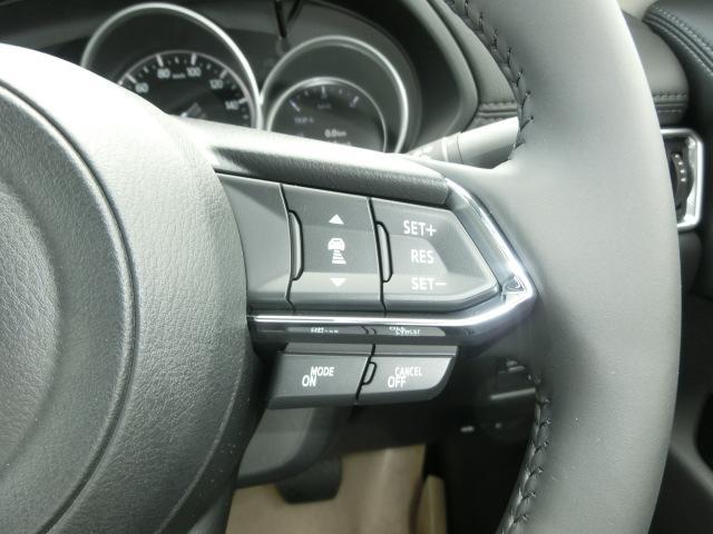 ★レーダークルーズコントロ-ル!前方車両との車間を計測し、アクセル操作なしにステアリングのスイッチ操作のみで高速道路などでの定速走行を制御します。★