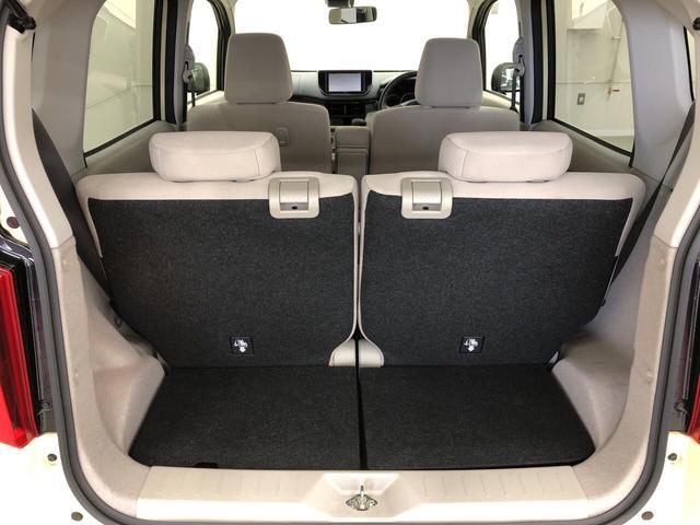 荷物もしっかり積めます。リヤシートは分割して倒すことができるので、お好みの調整が可能です。