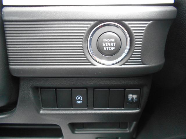 キーが車内にあれば、エンジンの始動・停止はブレーキを踏んでスイッチを押すだけ!
