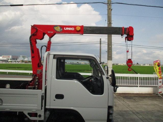 いすゞ エルフトラック 3t 4段クレーン ラジコン付 4ナンバー