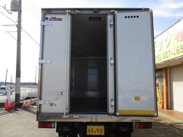 4t ワイド ロング 保冷車 バックカメラ 左スライドドア リア三枚観音 ラッシングレール2段(5枚目)