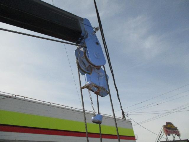 3t ロング 4段クレーン ラジコン付 横置きクレーン 簡易クレーン 2.22t吊り 全旋回型(9枚目)