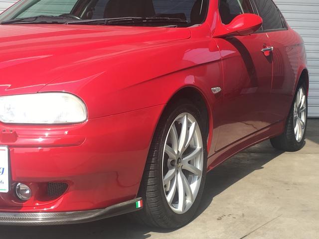アルファロメオ アルファ156 2.5 V6 24V フロントパイプ リアマフラー 社外サス
