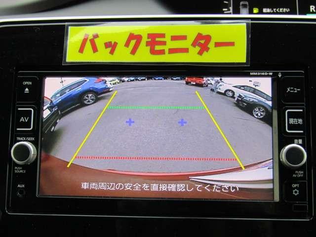 バックビューモニター 後方確認に便利、車輪止めが無い駐車には必須!!