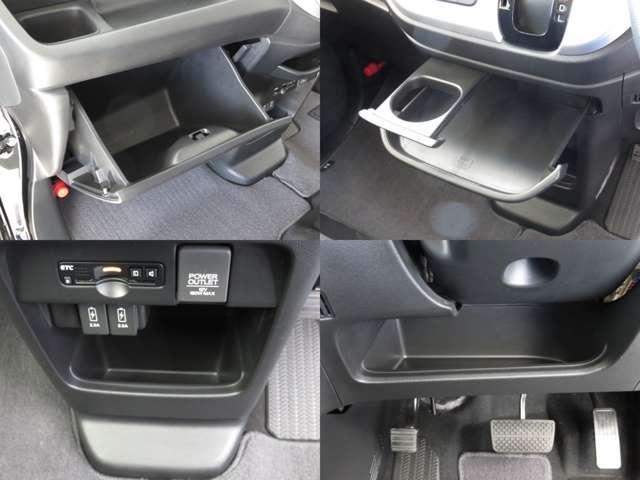 車検証・整備手帳・取扱説明書等一式がすっぽり入るグローブボックスにその他の小物入れです♪