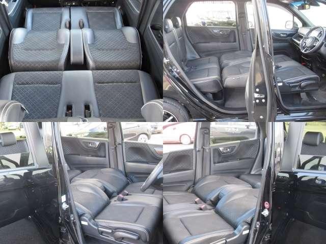 フロントシートを倒すと広い空間が出来上がり♪車中泊も出来るのでロングドライブに出かけよう♪