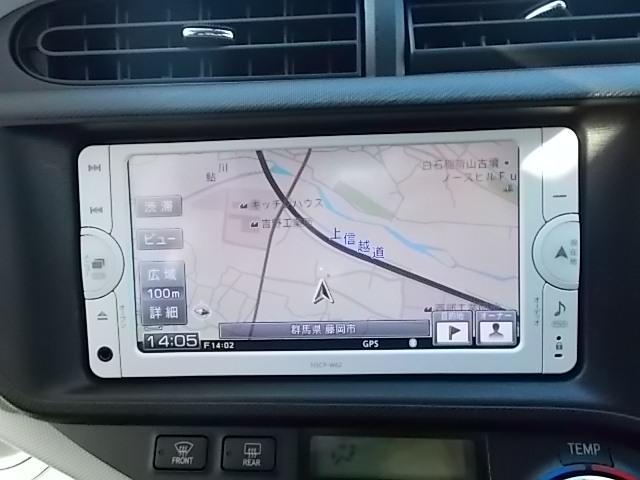 トヨタ アクア S SDナビ ワTV バックモニター ETC イモビライザー