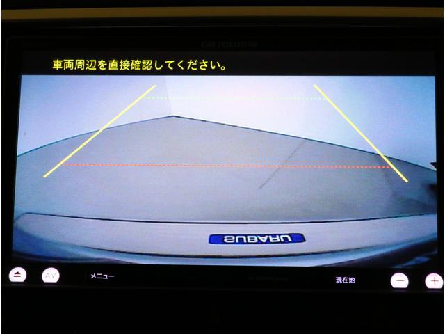 バックカメラの映像はナビ画面に表示します!