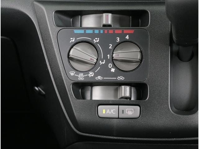 マニュアルエアコンで操作性もシンプルでわかりやすい作りになっています!
