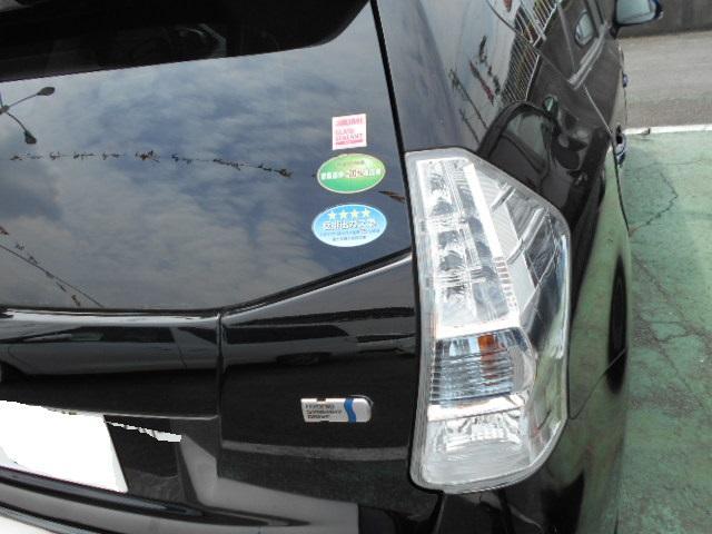 トヨタ プリウスアルファ S チューン ブラック アルミホイール ナビ バックモニター