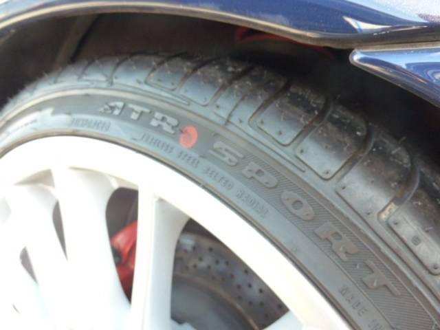 タイヤも新しいです。