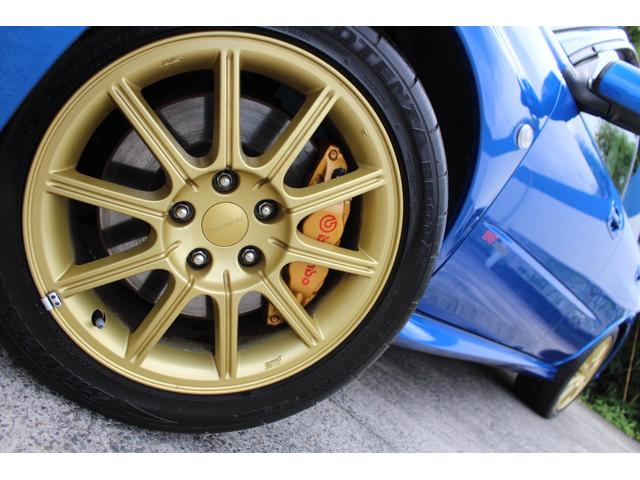 WRX STi E型 記録簿8枚 フジツボマフラー HKSEVC サブコン ブレンボキャリパー 純正17インチアルミ ETC 4WD キーレス ターボ 電動格納ミラー(9枚目)