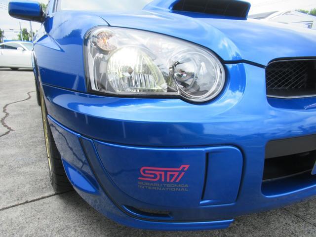WRX STi E型 記録簿8枚 フジツボマフラー HKSEVC サブコン ブレンボキャリパー 純正17インチアルミ ETC 4WD キーレス ターボ 電動格納ミラー(10枚目)
