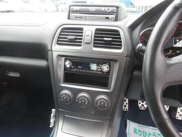 WRX STi E型 記録簿8枚 フジツボマフラー HKSEVC サブコン ブレンボキャリパー 純正17インチアルミ ETC 4WD キーレス ターボ 電動格納ミラー(16枚目)