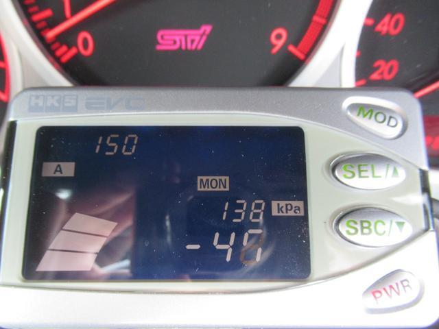 WRX STi E型 記録簿8枚 フジツボマフラー HKSEVC サブコン ブレンボキャリパー 純正17インチアルミ ETC 4WD キーレス ターボ 電動格納ミラー(29枚目)
