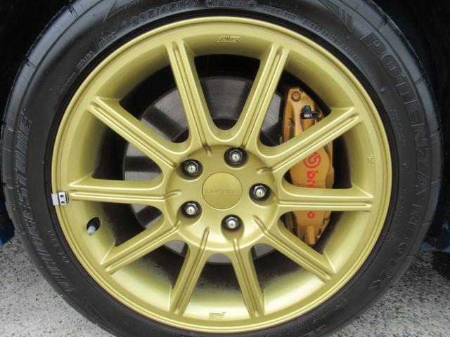 WRX STi E型 記録簿8枚 フジツボマフラー HKSEVC サブコン ブレンボキャリパー 純正17インチアルミ ETC 4WD キーレス ターボ 電動格納ミラー(73枚目)