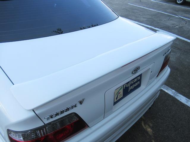 ツアラーV AT車 純正エアロ TEIN車高調 ルーフスポイラー トランクスポイラー アリスト純正17AW レーダー探知機 社外ブースト計 ETC HID メモリーナビ ワンセグ DVD再生(11枚目)