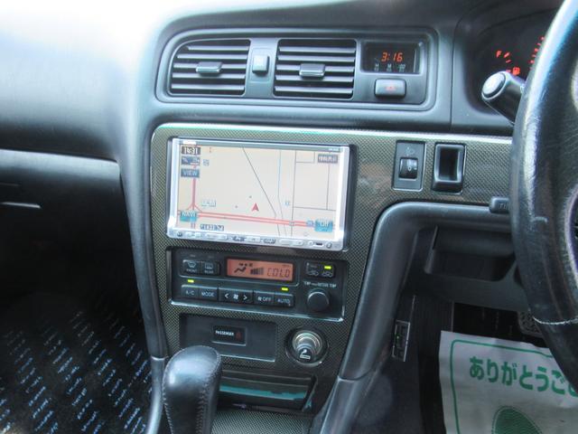 ツアラーV AT車 純正エアロ TEIN車高調 ルーフスポイラー トランクスポイラー アリスト純正17AW レーダー探知機 社外ブースト計 ETC HID メモリーナビ ワンセグ DVD再生(16枚目)