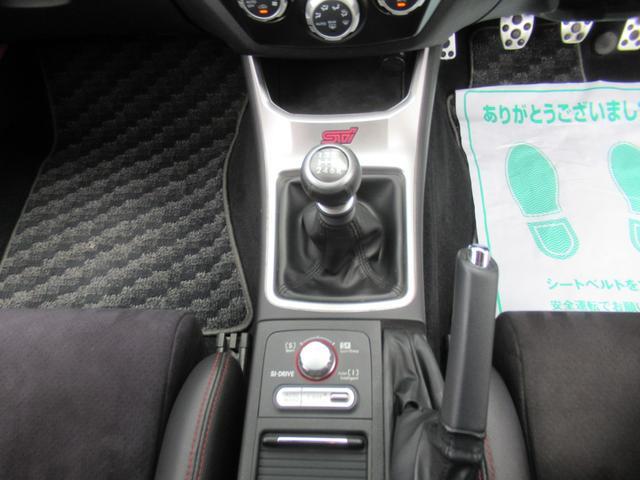 WRX STi 純正オプションハーフレザーレカロシート BBS18インチアルミ HDDナビ フルセグ STiタワーバー スマートキー ETC HID SIドライブ ブースト計 油温計(18枚目)