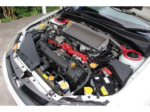 WRX STi 純正オプションハーフレザーレカロシート BBS18インチアルミ HDDナビ フルセグ STiタワーバー スマートキー ETC HID SIドライブ ブースト計 油温計(69枚目)
